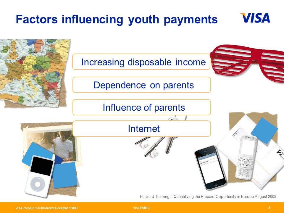 Presentation Identifier.3 Information Classification as Needed Visa Public Visa Prepaid Youth Market December 2009 3 Factors influencing youth payment