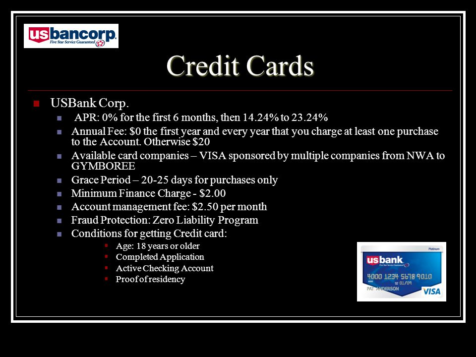 Credit Cards USBank Corp.