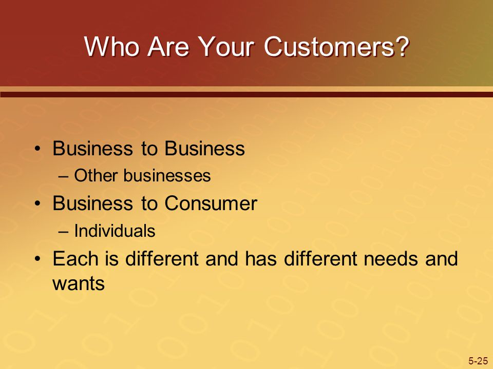 5-25 Who Are Your Customers.