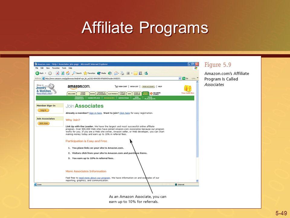 5-49 Affiliate Programs