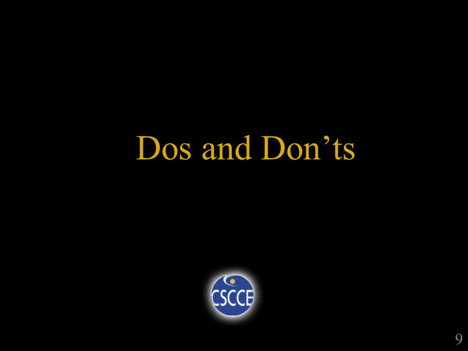 Dos and Donts 9