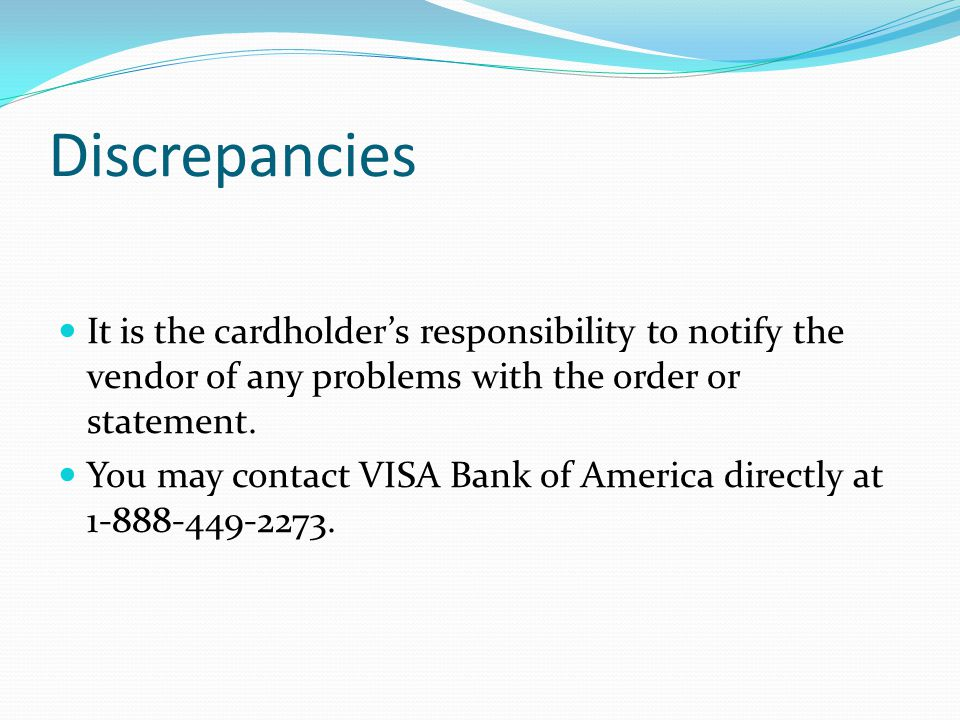 VISA Card Package If your paperwork is still not received in a timely manner the email will be resent and will also go to your area Vice President.