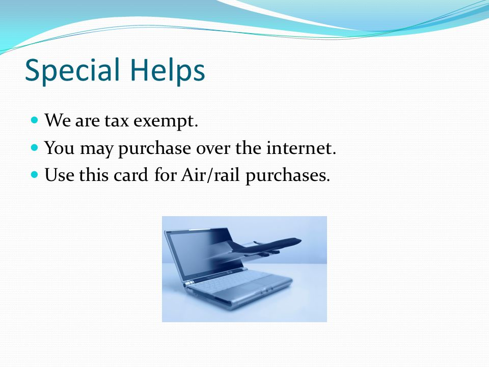 Special Helps Your package is due on the 7 th of each month. The amount on your package must match the statement. If you have a $0.00 balance you do n