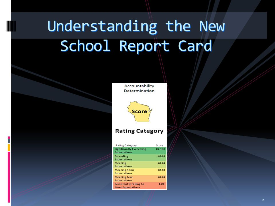 2 Understanding the New School Report Card