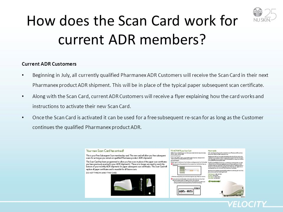 How does the Scan Card work for current ADR members.