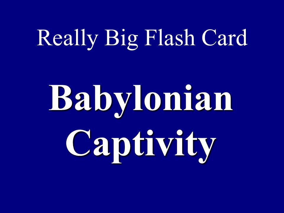 Really Big Flash Card Babylonian Captivity