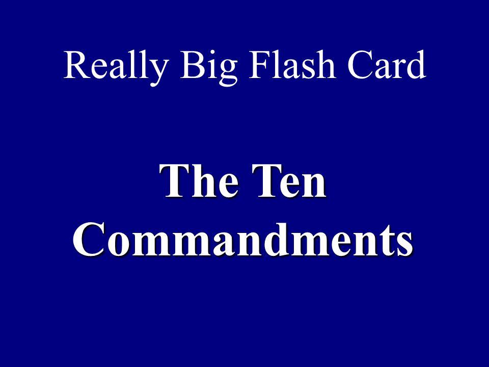 Really Big Flash Card The Ten Commandments