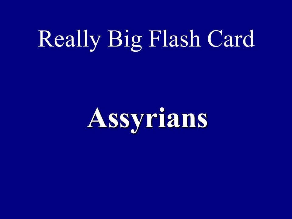 Really Big Flash Card Assyrians