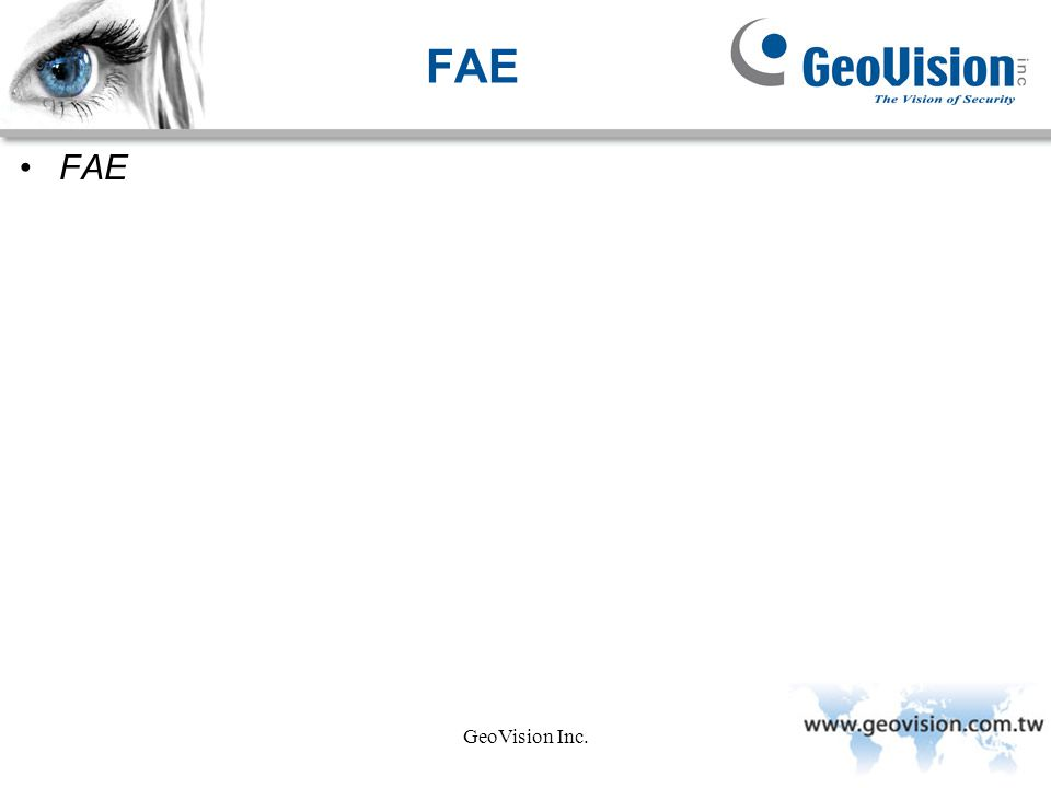 GeoVision Inc. FAE