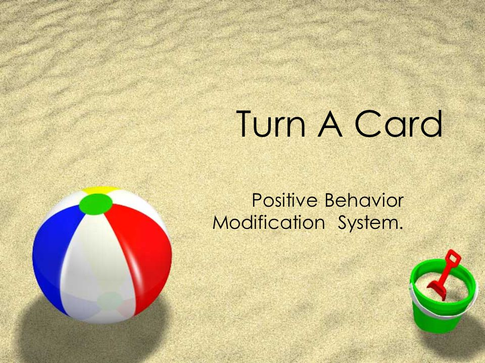 Turn A Card Positive Behavior Modification System.