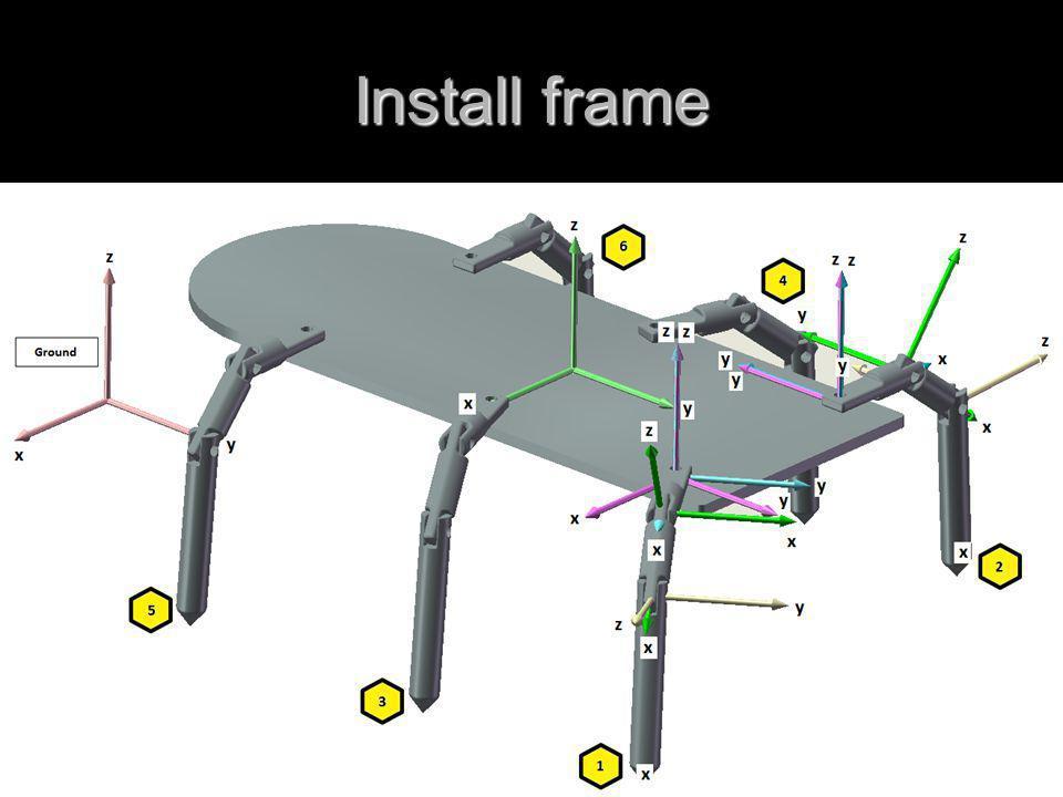 Install frame