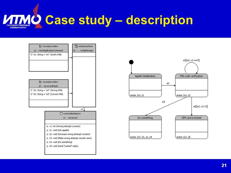21 Case study – description