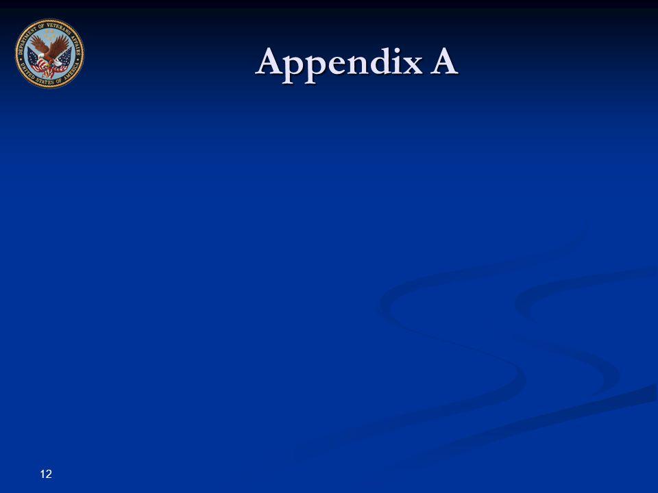 12 Appendix A