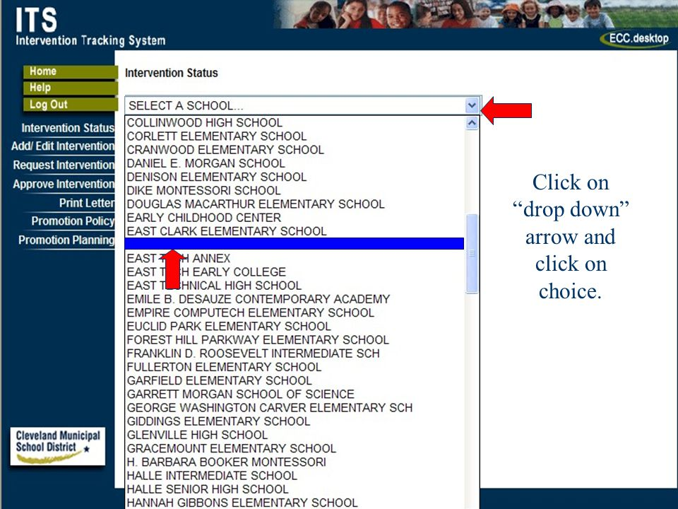 40 Click on drop down arrow and click on choice.