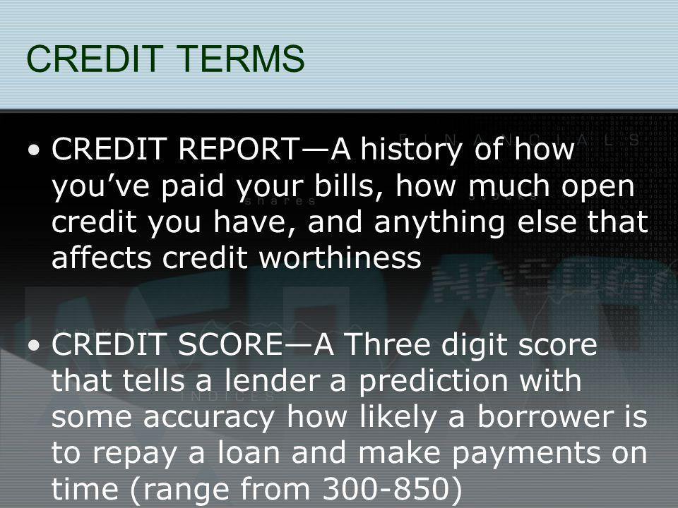 EFFECTING YOUR FUTURE Getting a car or home… It is more difficult today to get credit (and thats with good credit…imagine having bad credit…)…this is affecting Parent/Student Loans, etc.