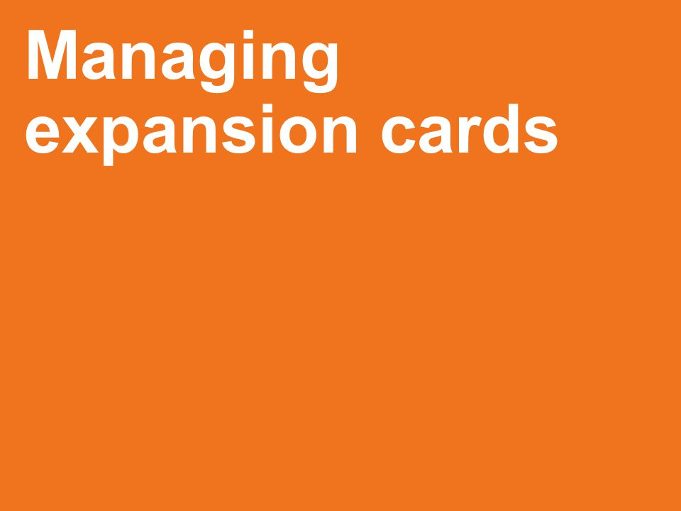 Managing expansion cards