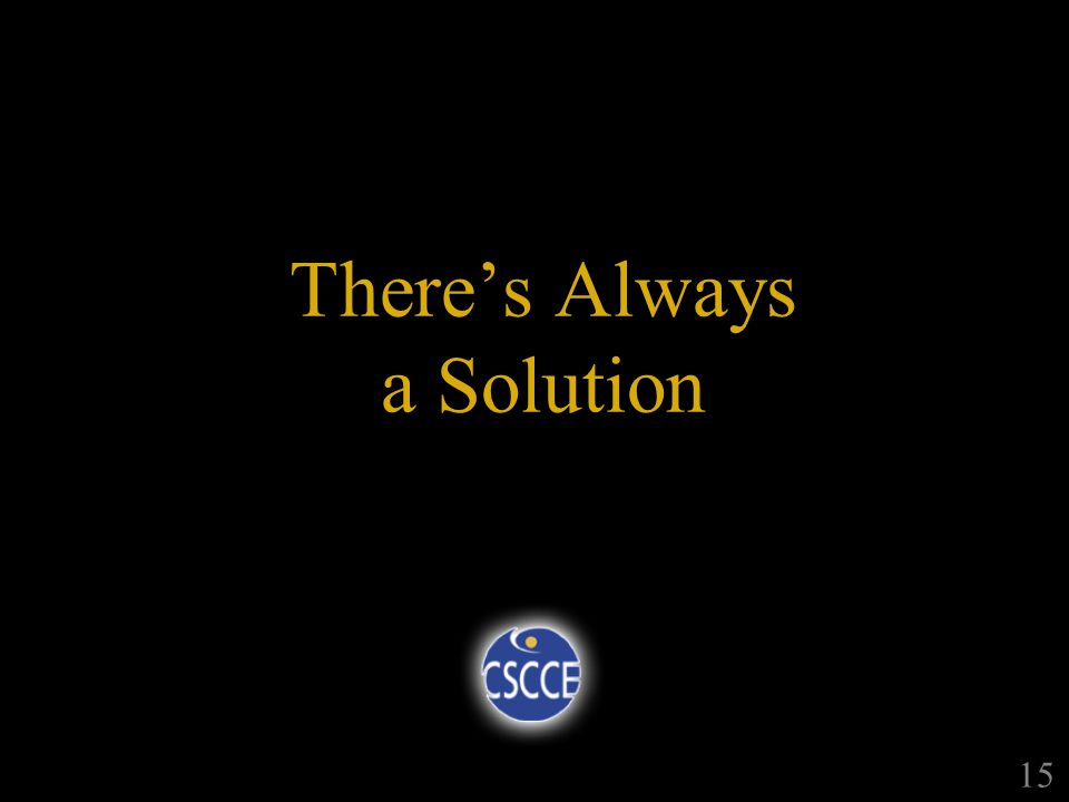 Theres Always a Solution 15