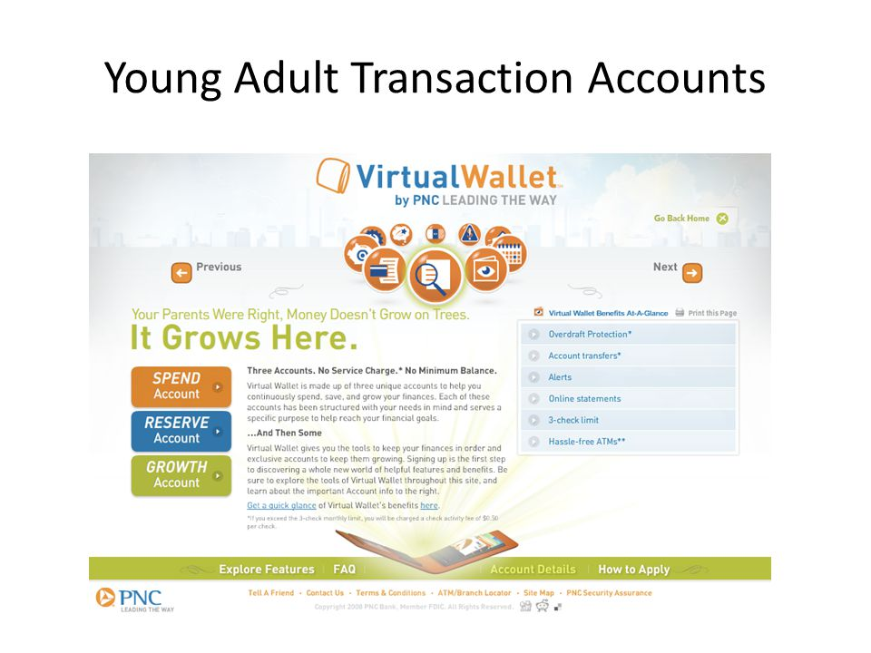 Transaction Accounts Targets 76% of 25-34 year olds used a debit card in prior month (Sept.
