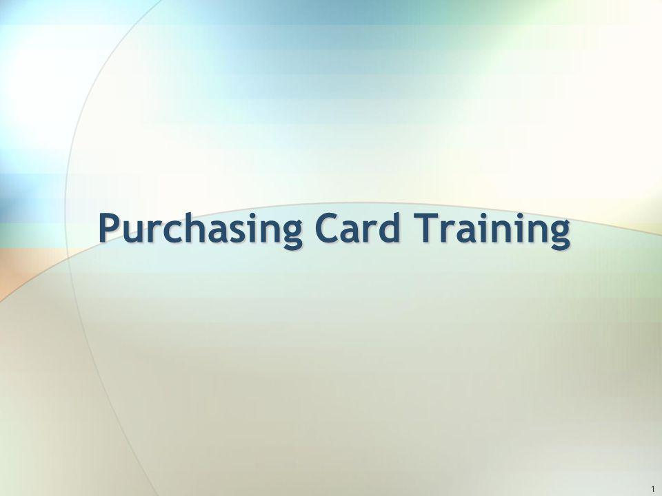 1 Purchasing Card Training