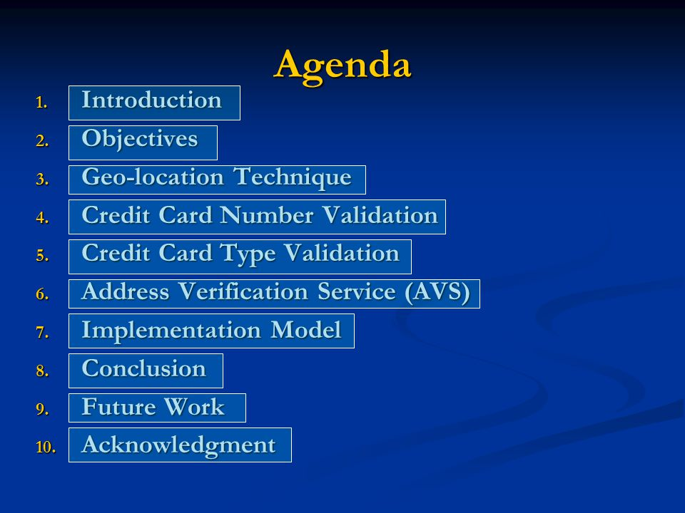 Agenda 1. Introduction 2. Objectives 3. Geo-location Technique 4.