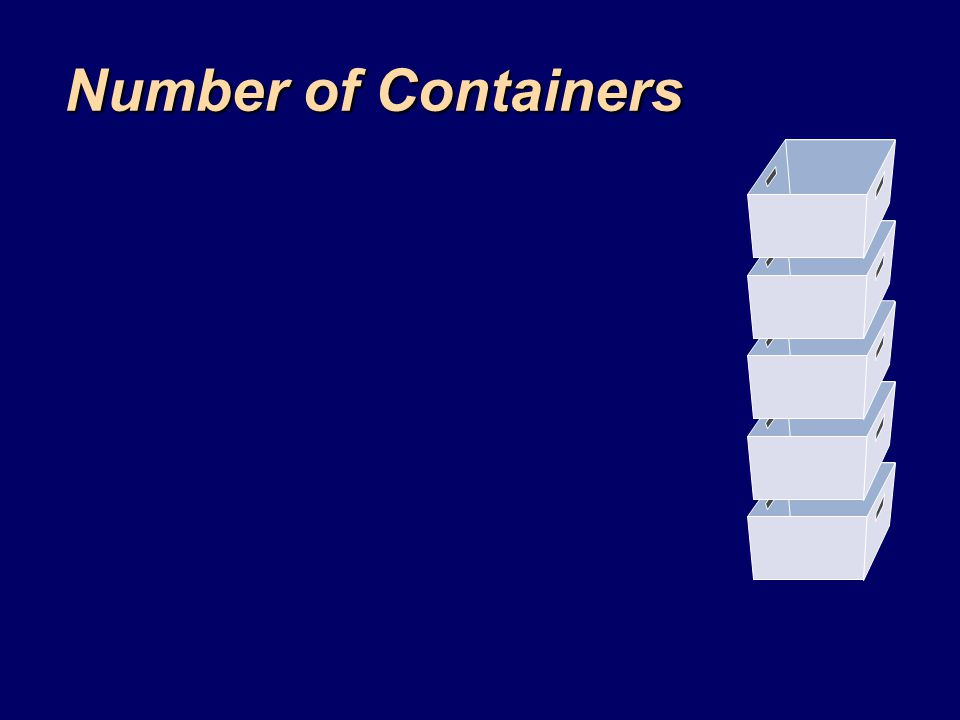 Number of Containers