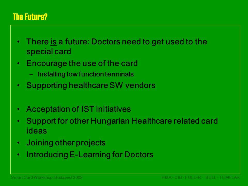 Smart Card Workshop, Budapest 2002HMA - CIB - FOLD-R - BULL - TEMPLAR The Future.