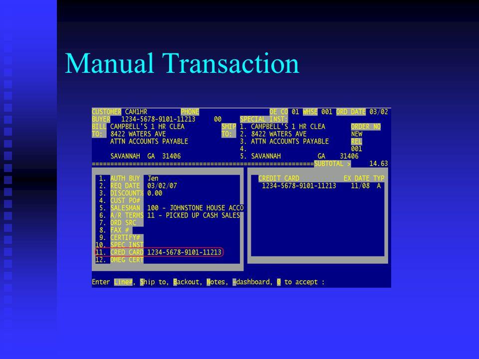Manual Transaction