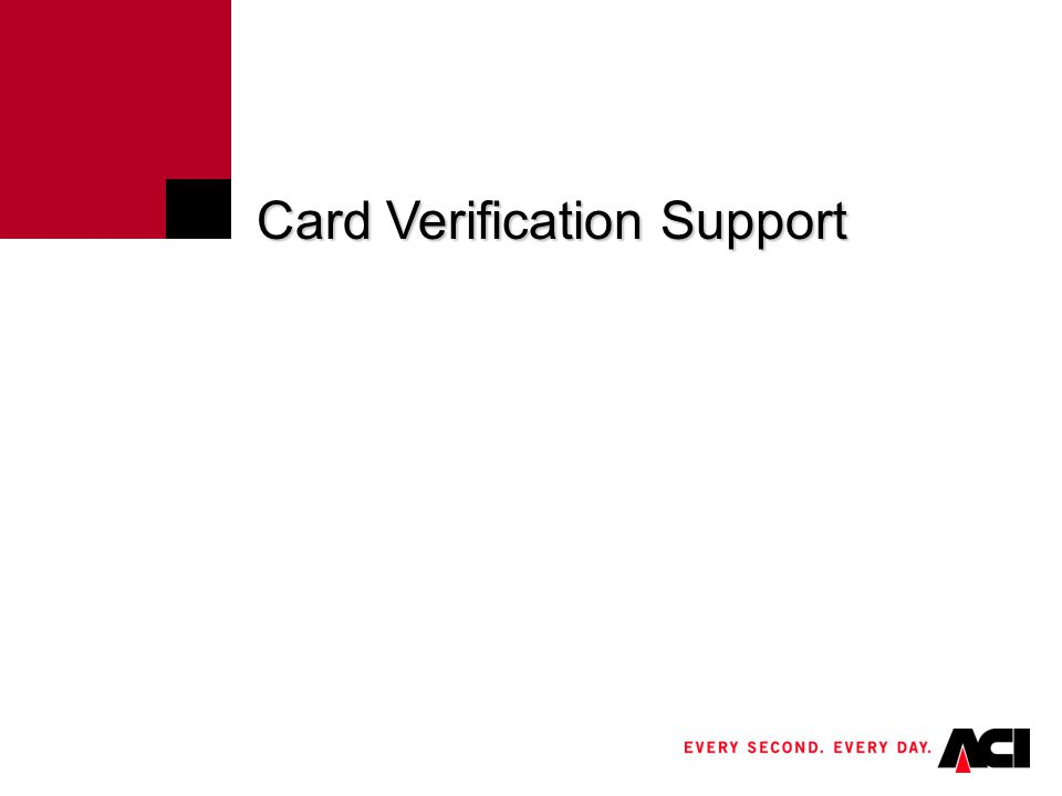 Click to edit Master title style Electronic Card Verification Processing Authorization 1.