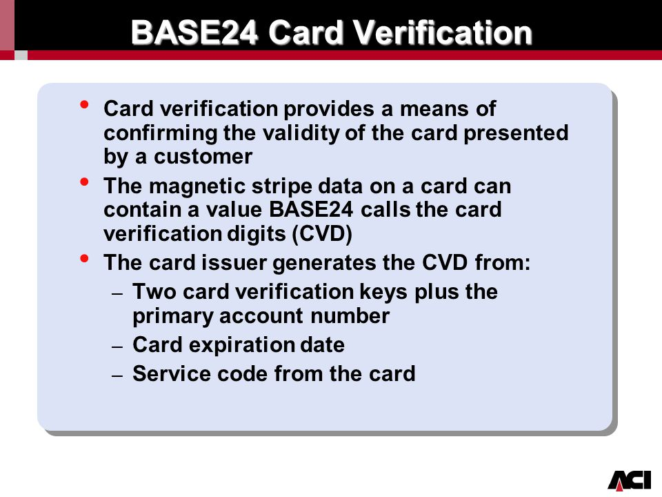 Click to edit Master title style Authorization Electronic Card Verification Processing 4.