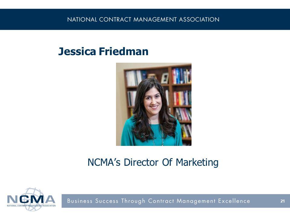 21 Jessica Friedman NCMAs Director Of Marketing