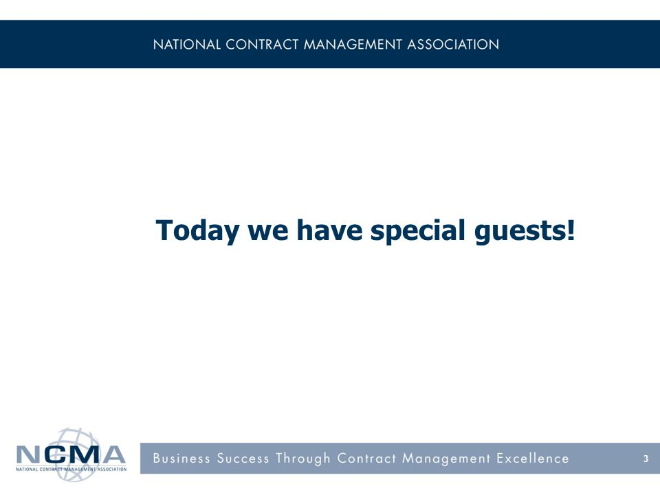 Today we have special guests! 3