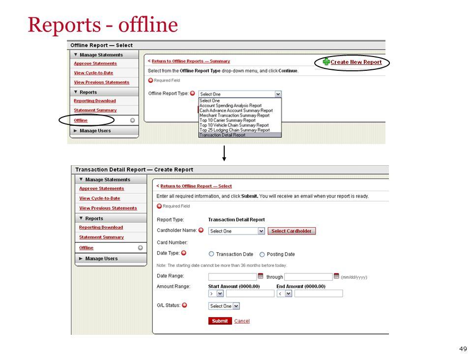 Reports - offline 49