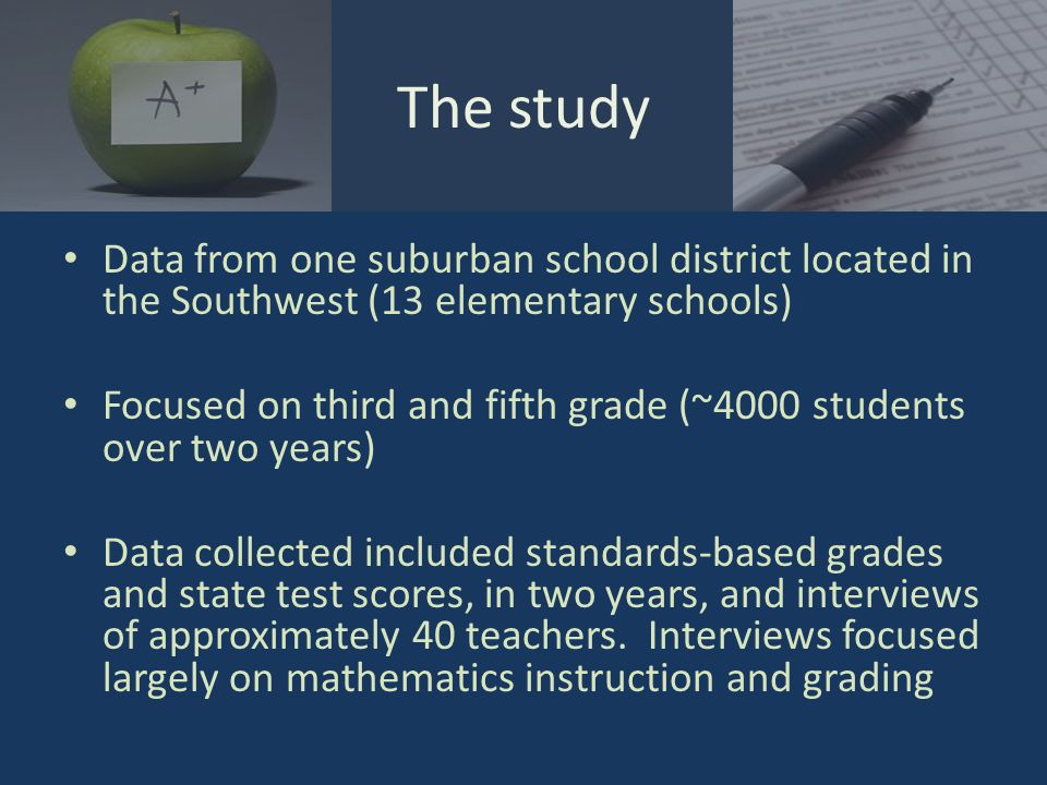 Discuss the promise and potential pitfalls of standards-based grading, drawing context from a study conducted in one district.