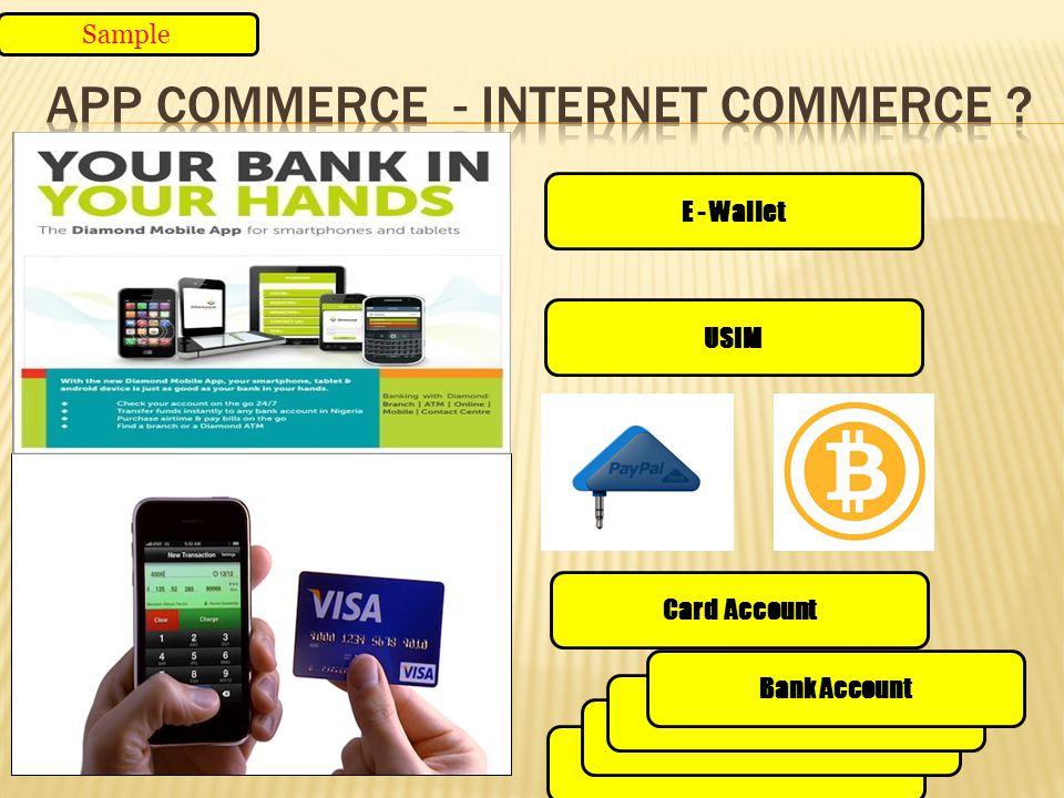 E - Wallet Bank Account USIM Card Account Bank Account Sample