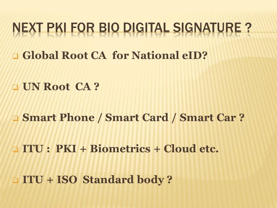 Global Root CA for National eID.UN Root CA . Smart Phone / Smart Card / Smart Car .