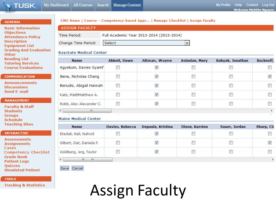 Assign Faculty