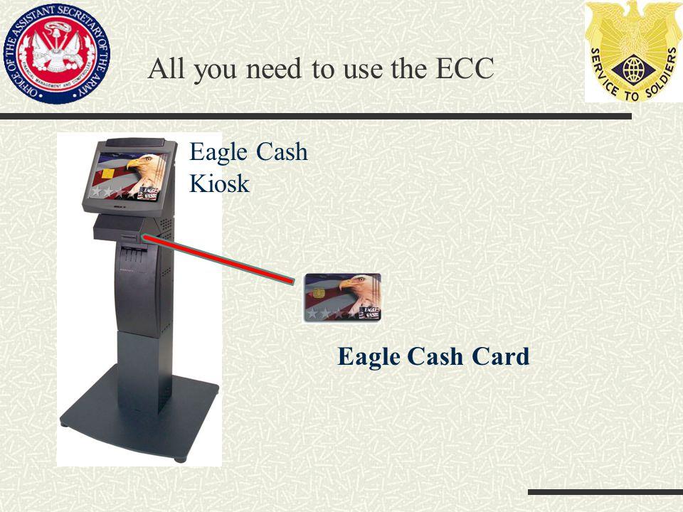 All you need to use the ECC Eagle Cash Kiosk Eagle Cash Card