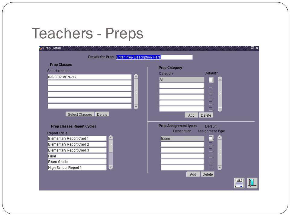 Teachers - Preps
