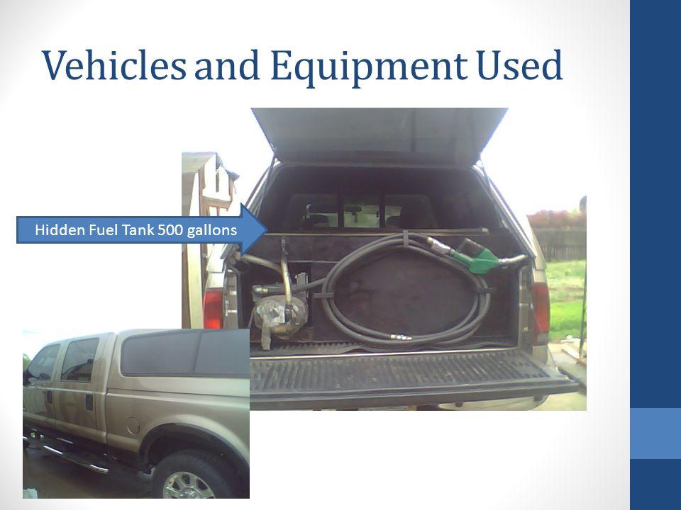 Hidden Fuel Tank 500 gallons