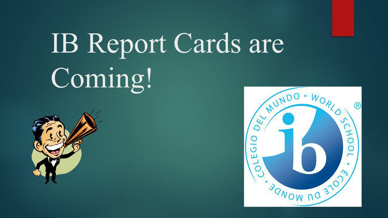 Did you know.There are now two kinds of report cards at JL Long, IB and Dallas ISD.