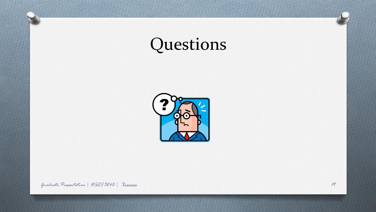 Questions Graduate Presentation | DSCI 5240 | Xxxxxxx19