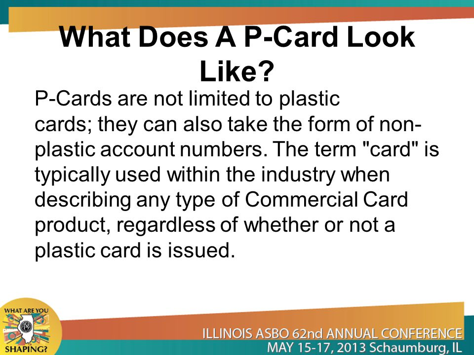 What Does A P-Card Look Like.