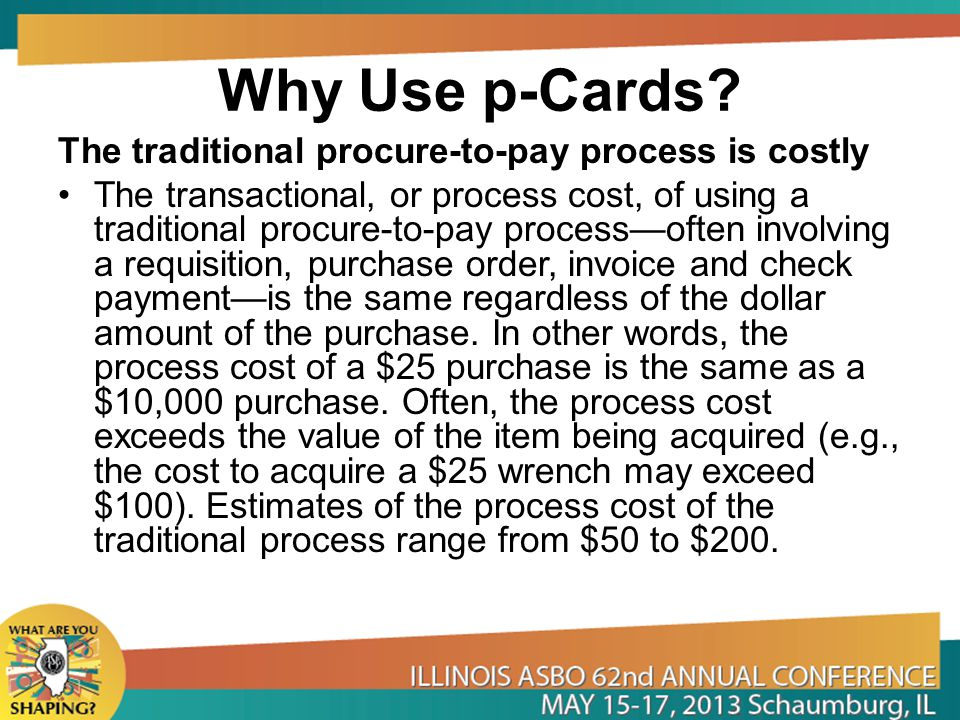 Why Use p-Cards.