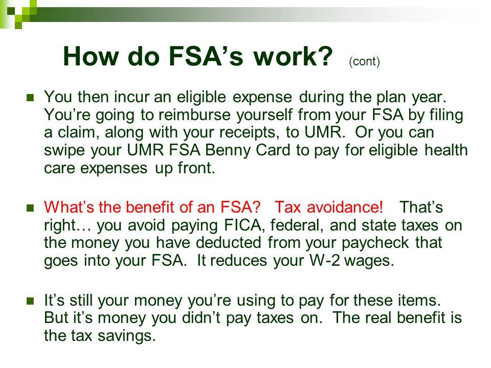 FSAs: How do they work.
