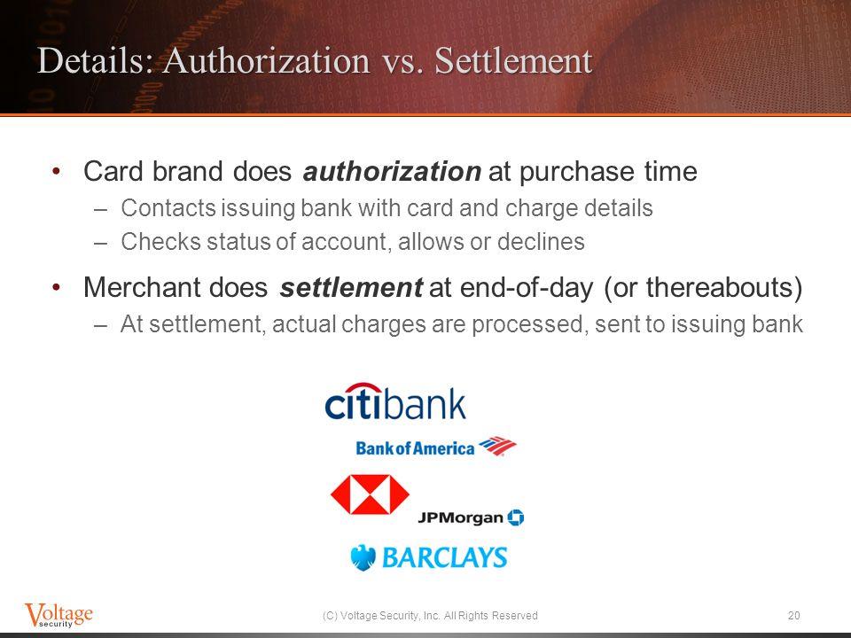 Details: Authorization vs.