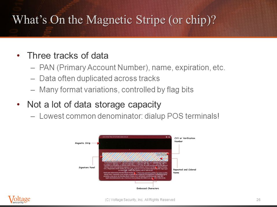 Whats On the Magnetic Stripe (or chip).