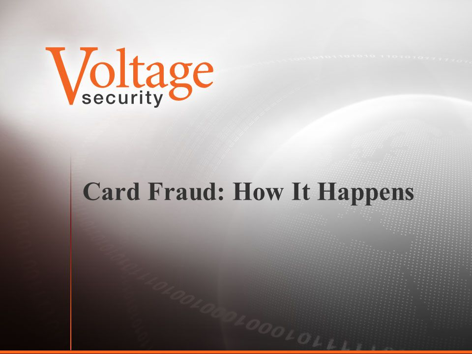 Card Fraud: How It Happens