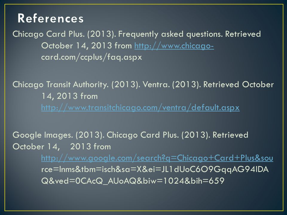 Chicago Card Plus. (2013). Frequently asked questions.