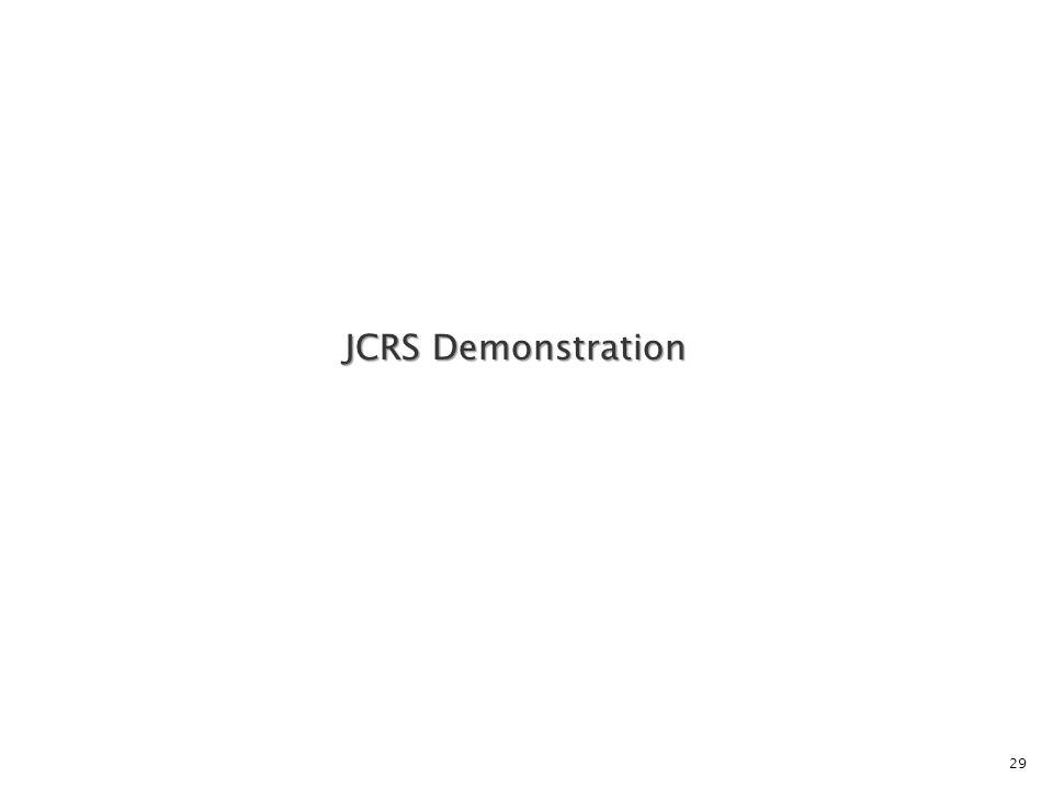 29 JCRS Demonstration