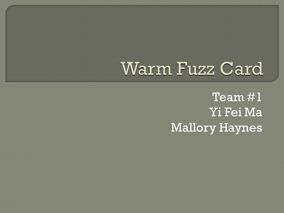 Team #1 Yi Fei Ma Mallory Haynes